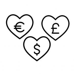 Love donate logos