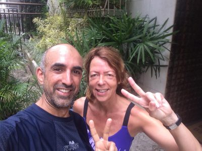 Amit & Diana before Rio Night Run 2017