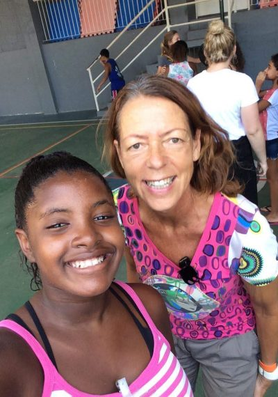 Smiling Summer Camp selfie with EduMais founder Diana Nijboer and one of EduMais's girls