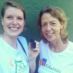 Iris and Diana   EduMais Volunteer Favela Rio de Janeiro